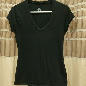 Wet seal black v-neck t-shirt